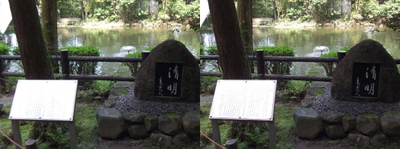 大神神社 摂社 狭井神社 三島由紀夫「清明」石碑(交差法)