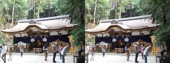 大神神社 摂社 狭井神社③(交差法)