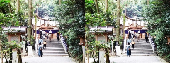 大神神社 摂社 狭井神社①(平行法)