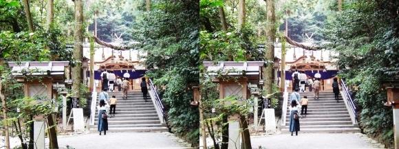 大神神社 摂社 狭井神社①(交差法)