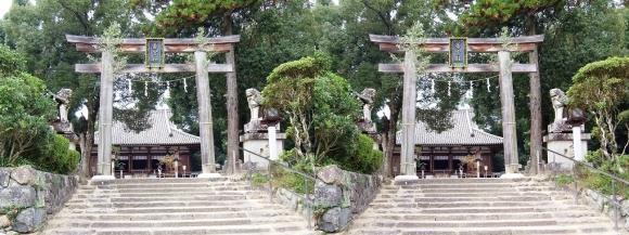 大神神社 摂社 大直禰子神社(若宮社)(交差法)