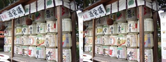 大神神社 酒栄講 奉献 樽酒(交差法)