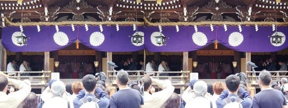 大神神社 神楽「うま酒みわの舞」(交差法)