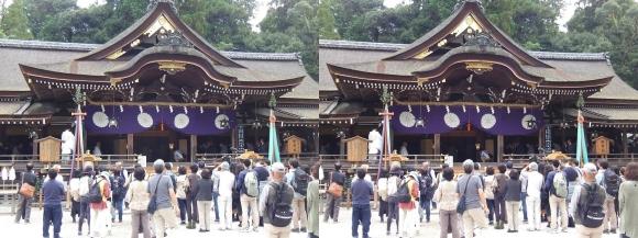 大神神社 拝殿②(交差法)