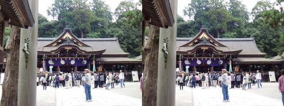 大神神社 拝殿①(交差法)