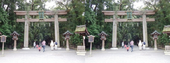 大神神社 二の鳥居(平行法)
