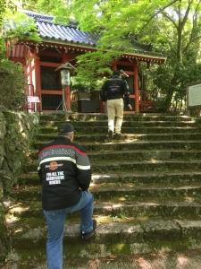金蔵寺入口にて