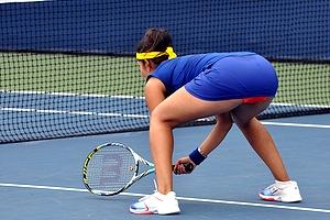 【※朗報】インドのノーブラテニス選手、エロ杉て草 → 「インドの牛乳屋さん 」「バインバイン」「エッロエロエロ」(画像あり)