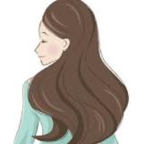 長髪女性イラスト