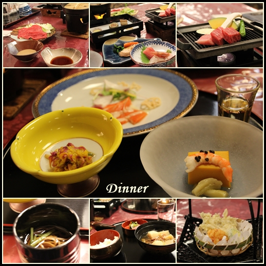 大平ホテルの夕飯