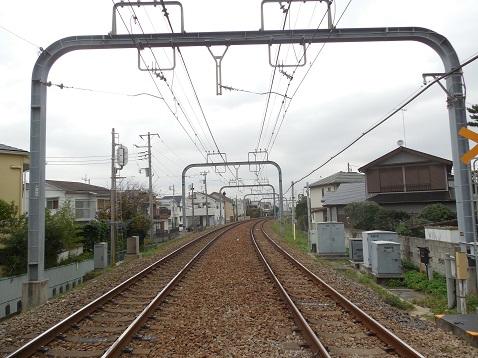 小田急江ノ島線の本鵠沼5号踏切@藤沢市f