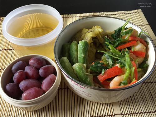 小海老と野菜のかき揚げ温うどん弁当01
