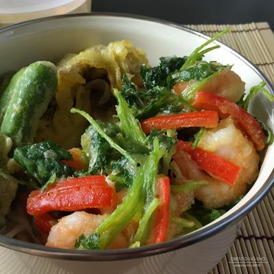 小海老と野菜のかき揚げ温うどん弁当02