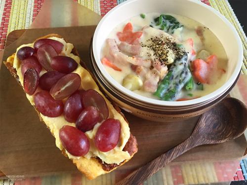 チーズクリームシチュー&赤ぶどうのカスタードサンド弁当01