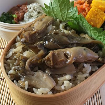 牡蠣と舞茸の炊き込みご飯弁当02