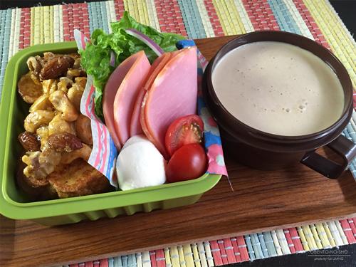 キャラメルナッツのフレンチトースト弁当01