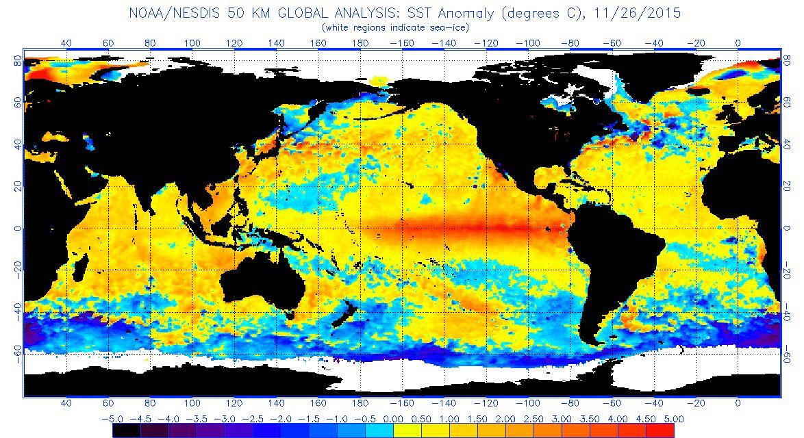 国連「エルニーニョ現象は今後も続く、2016年さらに気温が上昇する。世界は象徴的かつ重大な局面を迎える」