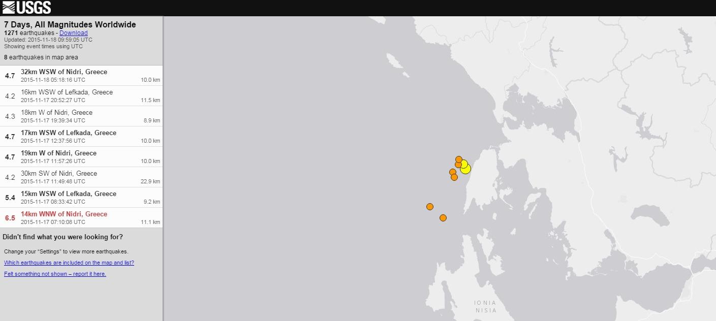 ギリシャ西部沖でM6.8の地震が発生…M4クラスの余震続く
