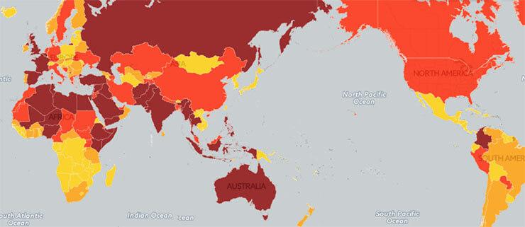外務省が発表した世界の「テロ脅威マップ」が話題に