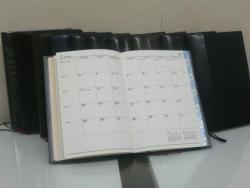 過去の10年間の手帳と来年の手帳