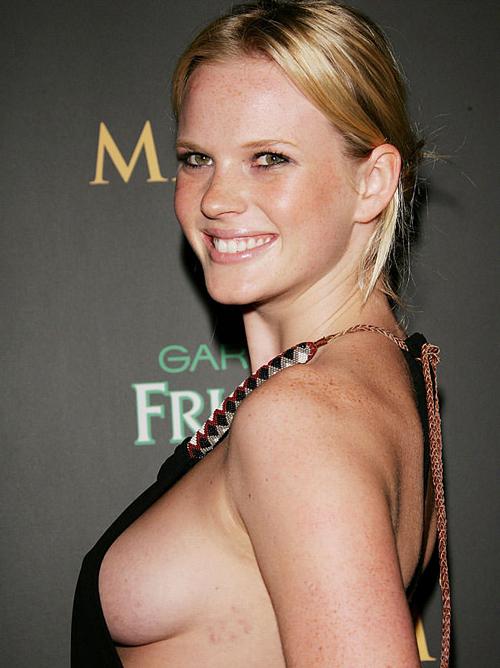 ハリウッドセレブのセクシードレスから覗くゴージャスな横乳