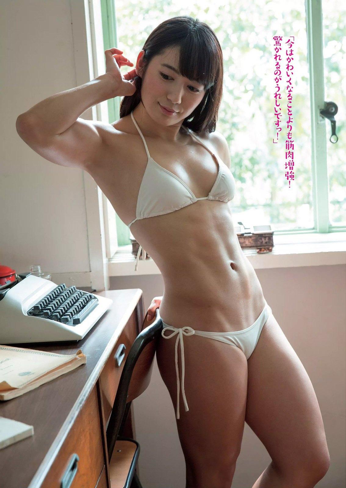 才木玲佳 筋肉あいどるのカッチカチな小さい乳お乳☆マッスルエンジェル