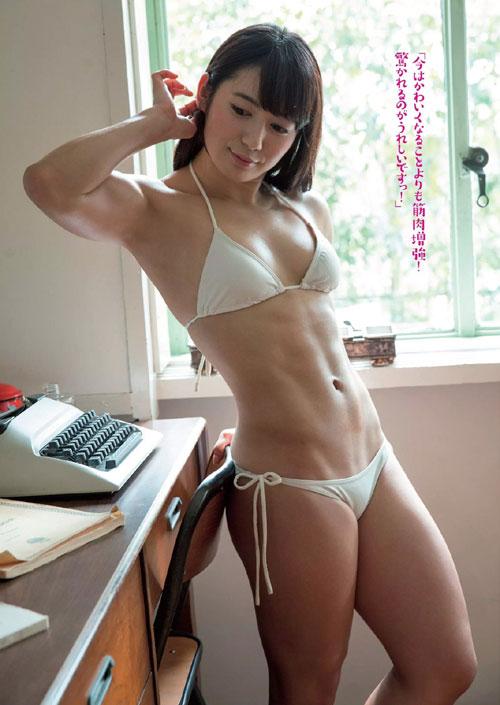 才木玲佳 筋肉アイドルの貧乳おっぱい3