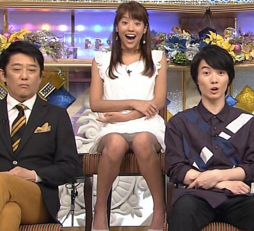 黒すぎる女子アナ・岡副麻希パンモロ