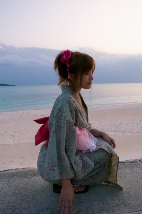 【三次】夏の終わり・・浴衣の女の子のエロ画像