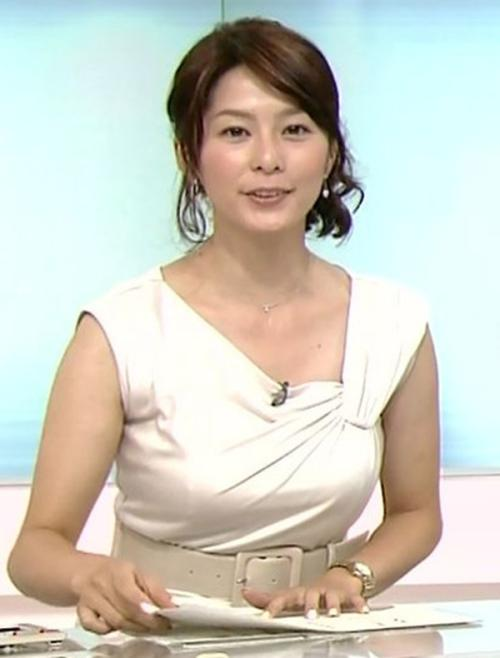 【上智大出身の美人NHK杉浦友紀アナ】~バストをガン見、着衣巨乳テレビキャプ画像!