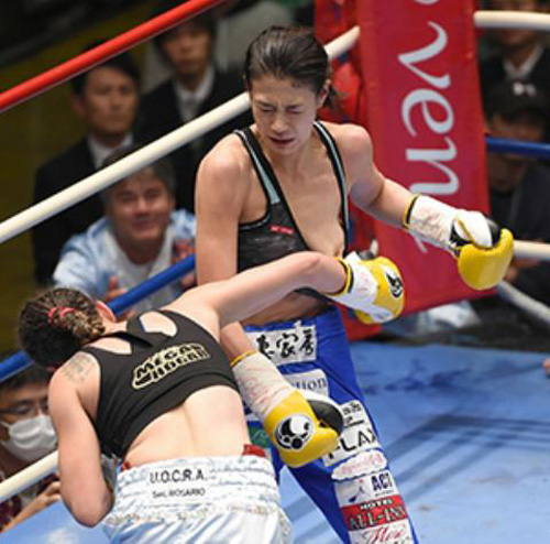美人プロボクサー・高野人母美のセミヌードwww2ch「試合中に乳首ポロwww」「やっぱり脱いだかww」