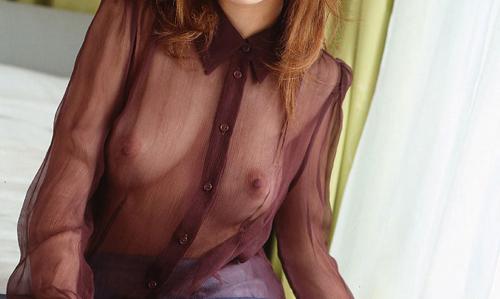 【シースルーエロ画像】着衣が見事に透けている着エロ画像!シースルー特集!