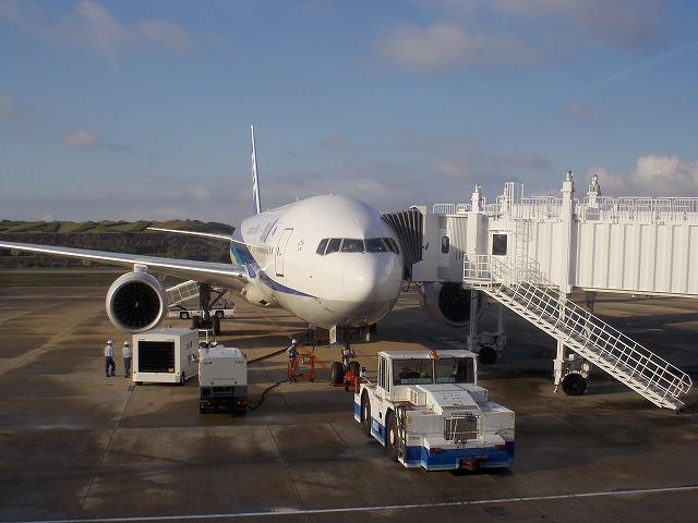 長崎発東京行き飛行機
