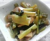 小松菜と薄揚げ