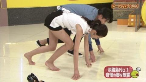 【エロ画像】料理よりうまそうな朝比奈彩(22)のNo.1きれいな脚