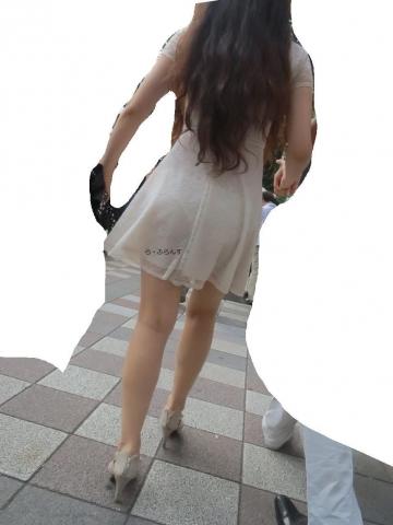 【エロ画像】透け透けパンツと女の尻のえろさが堪らない画像