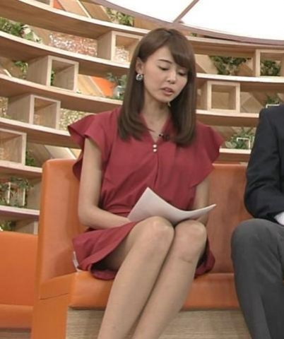 宮澤智アナ スカートの中が見える角度のカメラワーク