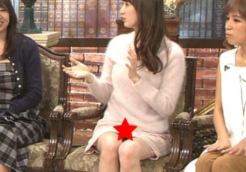 (写真)團遥香、スカートが短すぎてパ○チラ放送事故wwwwwwwwwwwwww