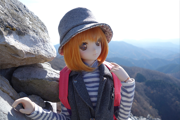 小隠里@秋空の御池岳