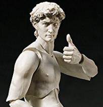 ダビデ像 ノンスケール 塗装済み可動フィギュア