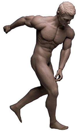 超柔軟性シームレス男性素体
