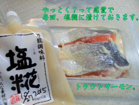 トラウトサーモンと塩麹