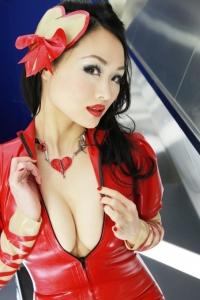 赤ラバードレス