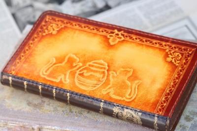黄色の本革長財布
