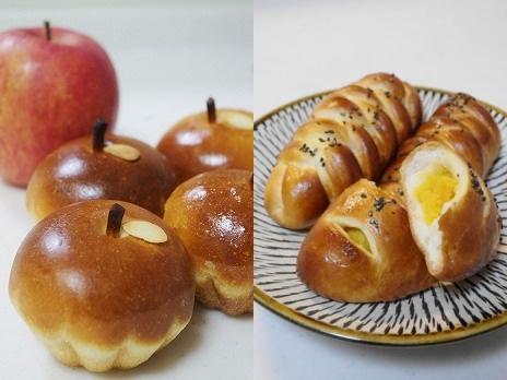 林檎パン・お芋のパン
