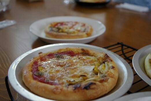 発酵種の入ったピザ