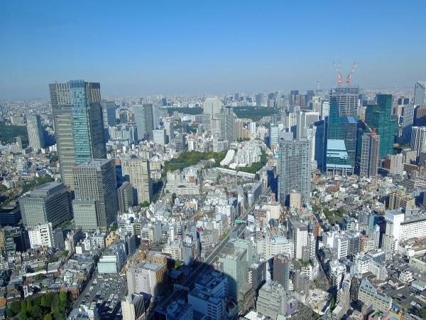 森タワー展望台から見た風景1