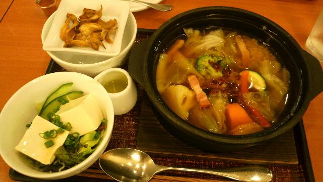 野菜スープごはん