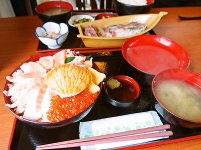 黄金丼 & サンマ定食