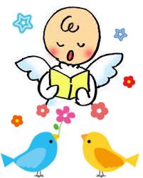 バナー用天使と鳥